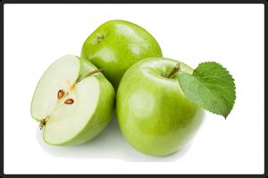 Яблоки зелёные.  Упаковка: картонная коробка или пластмассовый ящик, 6-8 кг.
